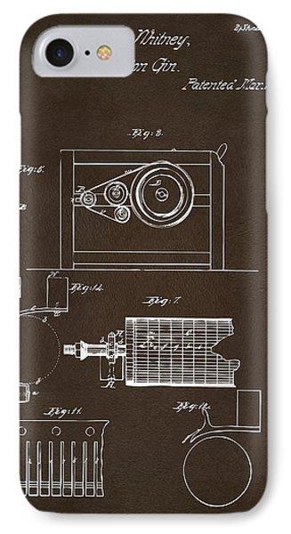 1794 Eli Whitney Cotton Gin Patent 2 Espresso IPhone Case by Nikki Marie Smith