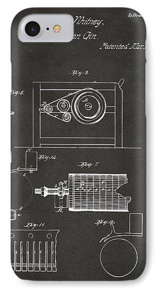 1794 Eli Whitney Cotton Gin Patent 2 Gray IPhone Case by Nikki Marie Smith