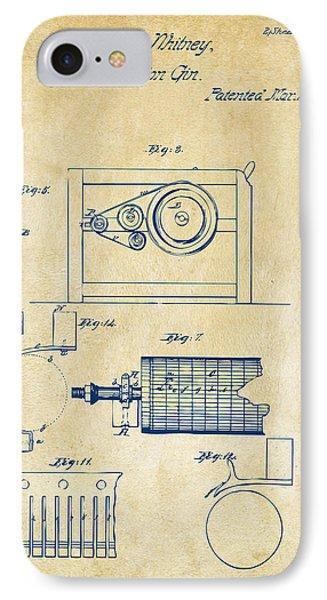 1794 Eli Whitney Cotton Gin Patent 2 Vintage IPhone Case by Nikki Marie Smith