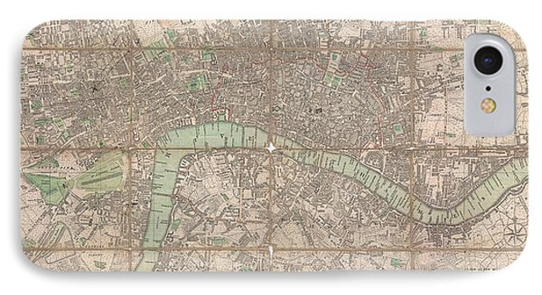 1795 Bowles Pocket Map Of London IPhone Case by Paul Fearn