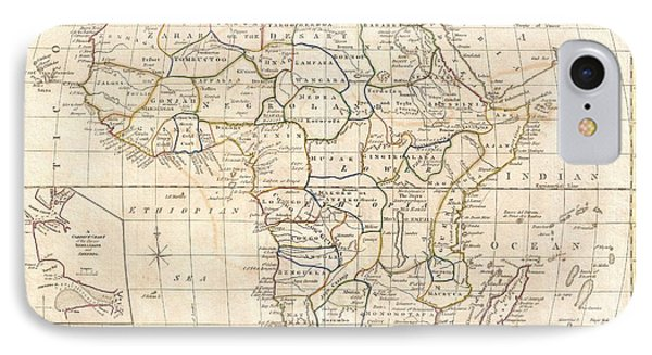 1799 Clement Cruttwell Map Of Africa  IPhone Case by Paul Fearn