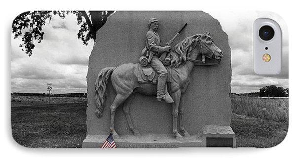 17th Pennsylvania Cavalry Monument Gettysburg IPhone Case