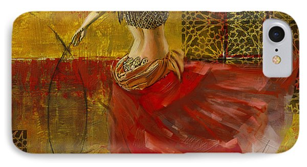 Abstract Belly Dancer 6 IPhone Case by Corporate Art Task Force