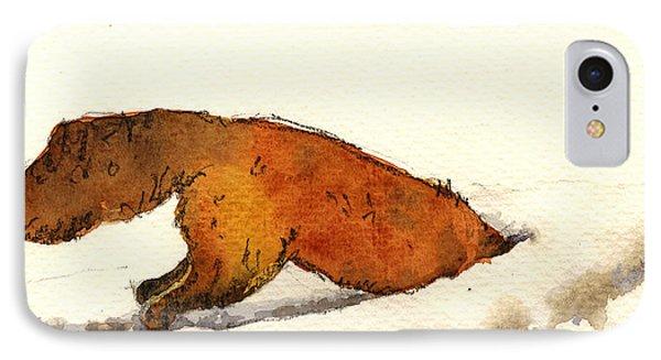 Red Fox IPhone Case by Juan  Bosco