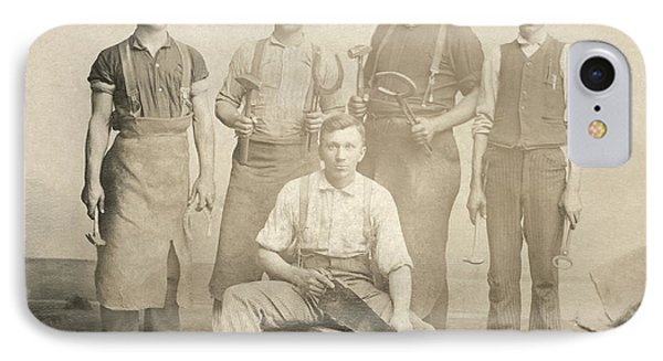 1800's Vintage Photo Of Blacksmiths IPhone Case