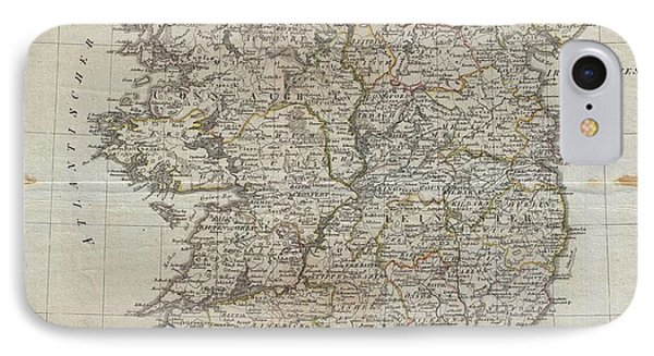 1804 Jeffreys And Kitchin Map Of Ireland IPhone Case by Paul Fearn