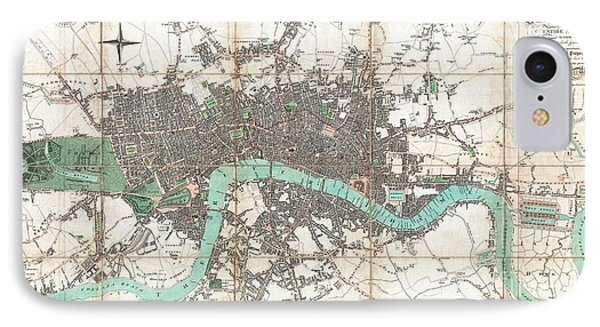 1806 Mogg Pocket Or Case Map Of London IPhone Case by Paul Fearn