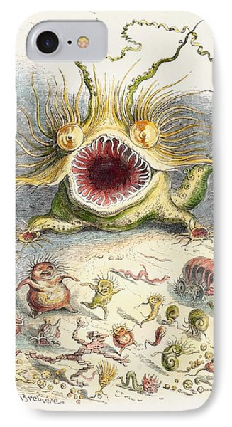 1833 Cholera Pandemic Grandville Cartoon IPhone Case by Paul D Stewart