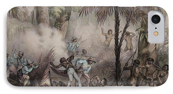 1836 Rugendas Brazil Indian Masacre IPhone Case by Paul D Stewart