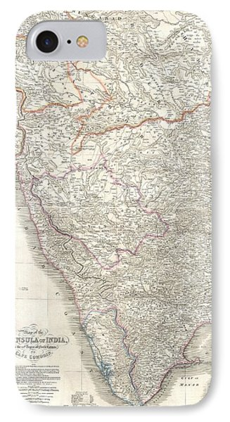 1838 Wyld Wall Map Of India Phone Case by Paul Fearn