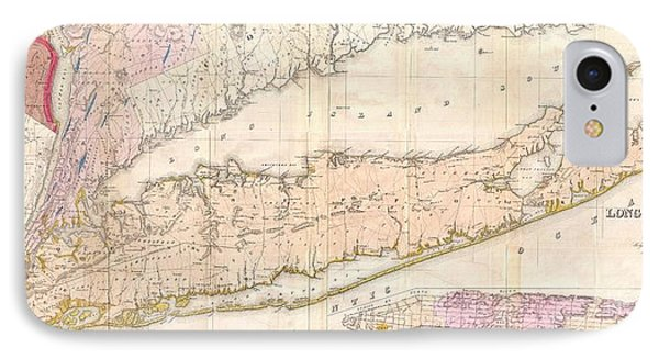 1842 Mather Map Of Long Island New York Phone Case by Paul Fearn