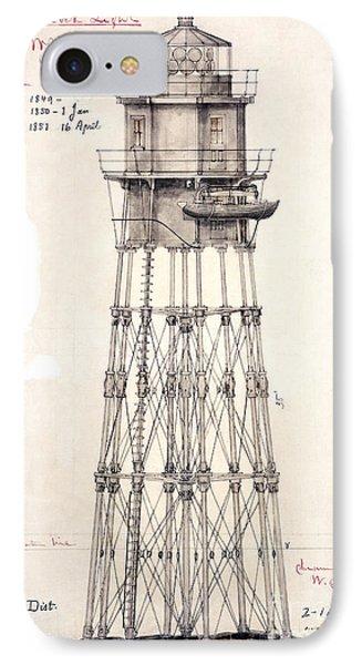 1849 Minot's Ledge Lighthouse  IPhone Case by Jon Neidert
