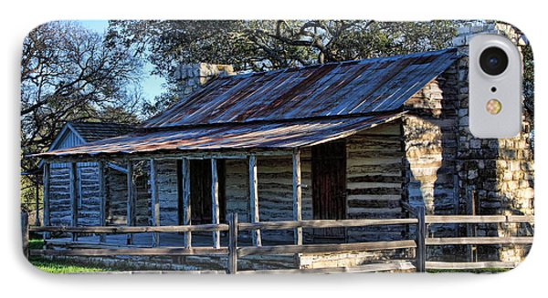 1860 Log Cabins Phone Case by Linda Phelps