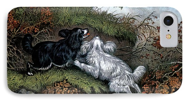 1860s Two Spaniel Dogs Flushing IPhone 7 Case