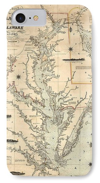 1862 Chesapeake Bay Map IPhone Case by Dan Sproul