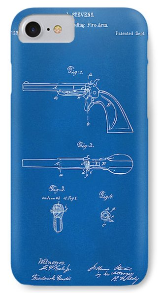 1864 Breech Loading Pistol Patent Artwork - Blueprint IPhone Case by Nikki Marie Smith