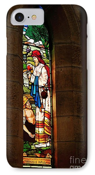 1865 - St. Jude's Church  - Stained Glass Window Phone Case by Kaye Menner