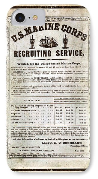 1866 Recruiting Poster Reproduction IPhone Case by Annette Redman
