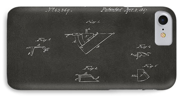 1867 John Deere Plow Irons Patent Gray H IPhone Case by Nikki Marie Smith