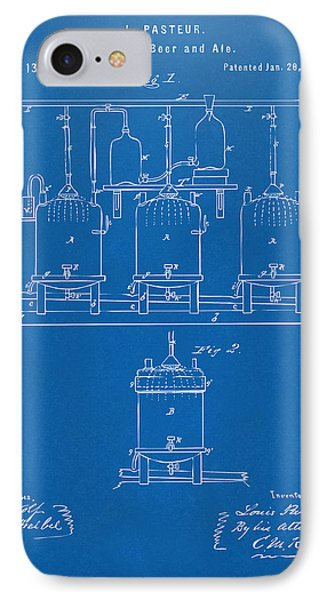 1873 Brewing Beer And Ale Patent Artwork - Blueprint IPhone Case by Nikki Marie Smith