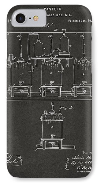 1873 Brewing Beer And Ale Patent Artwork - Gray IPhone Case by Nikki Marie Smith
