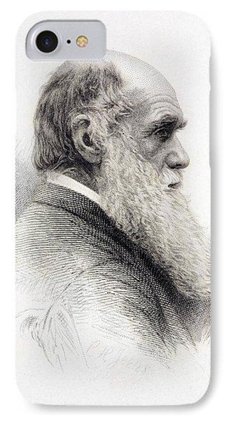 1874 Charles Darwin Fine Engraving Jeens IPhone Case by Paul D Stewart