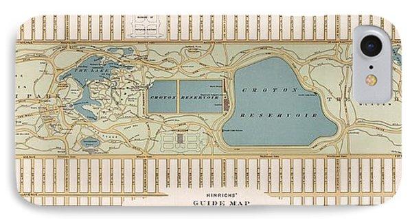 1875 Central Park Map IPhone Case