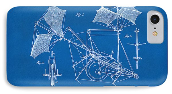 1879 Quinby Aerial Ship Patent - Blueprint Phone Case by Nikki Marie Smith