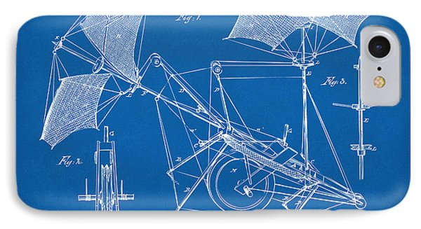 1879 Quinby Aerial Ship Patent Minimal - Blueprint Phone Case by Nikki Marie Smith
