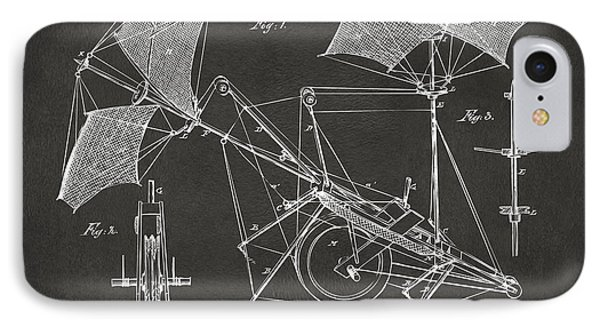 1879 Quinby Aerial Ship Patent Minimal - Gray Phone Case by Nikki Marie Smith