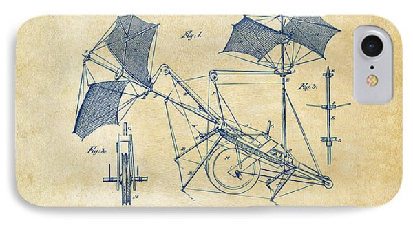 1879 Quinby Aerial Ship Patent - Vintage Phone Case by Nikki Marie Smith