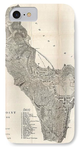 1883 West Point Map IPhone Case