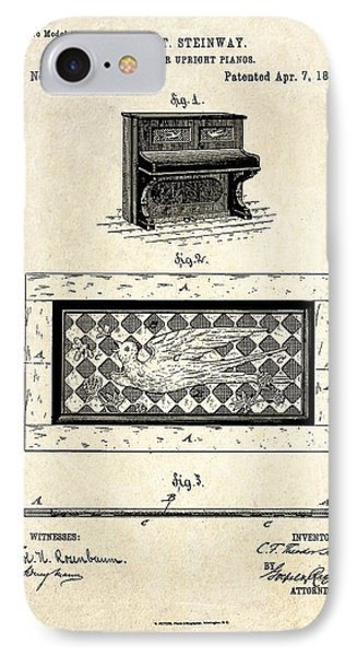 1885 Steinway Panel Patent Art IPhone Case