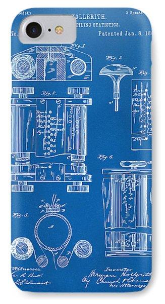 1889 First Computer Patent Blueprint IPhone Case