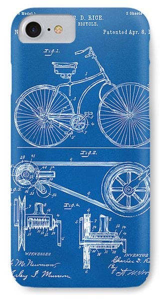 1890 Bicycle Patent Artwork - Blueprint IPhone Case