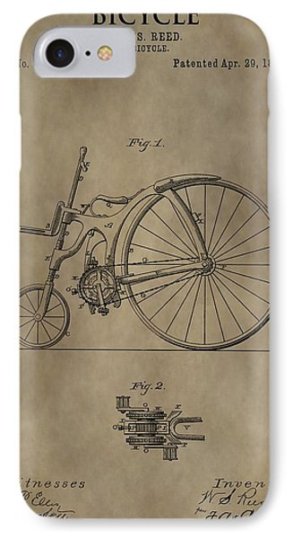 1890 Bicycle Patent IPhone Case by Dan Sproul