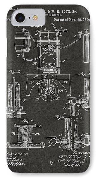 1890 Bottling Machine Patent Artwork Gray IPhone Case