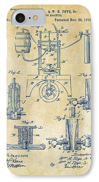 1890 Bottling Machine Patent Artwork Vintage IPhone Case