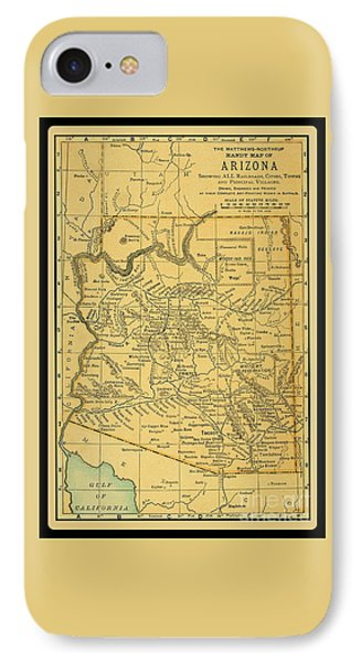 1891 Arizona Map IPhone Case