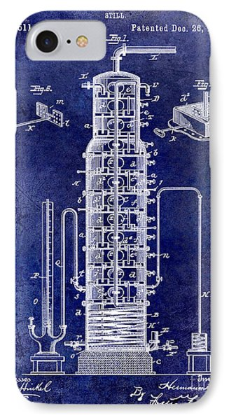 1893 Still Patent Drawing Blue IPhone Case
