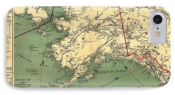 IPhone Case featuring the photograph 1897 Map Of Alaska by Charles Beeler