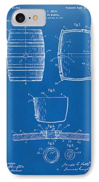 1898 Beer Keg Patent Artwork - Blueprint IPhone Case