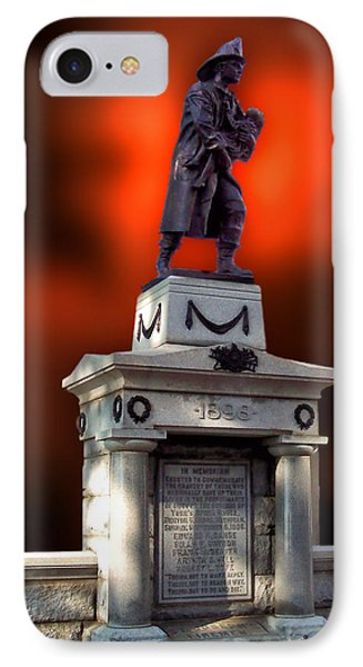 1898 Firemen Memorial St Joes Michigan Phone Case by Thomas Woolworth