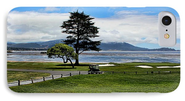 18th At Pebble Beach Panorama IPhone Case by Judy Vincent