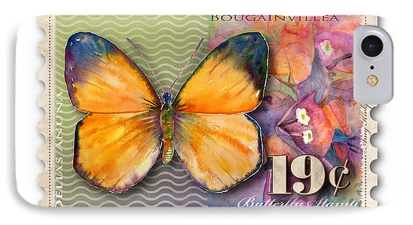 19 Cent Butterfly Stamp IPhone Case by Amy Kirkpatrick