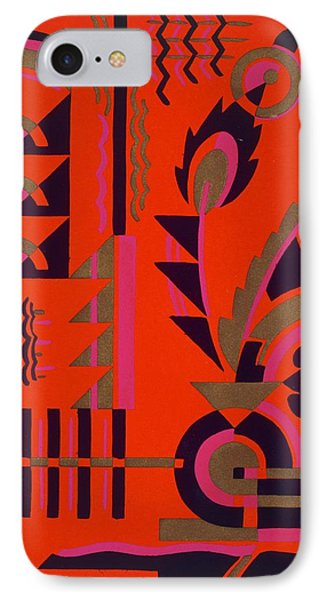 Design From Nouvelles Compositions Decoratives IPhone Case by Serge Gladky
