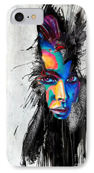 IPhone Case featuring the painting Facial Expressions by Rafael Salazar