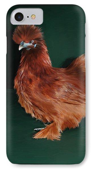 19. Red Silkie Hen IPhone Case