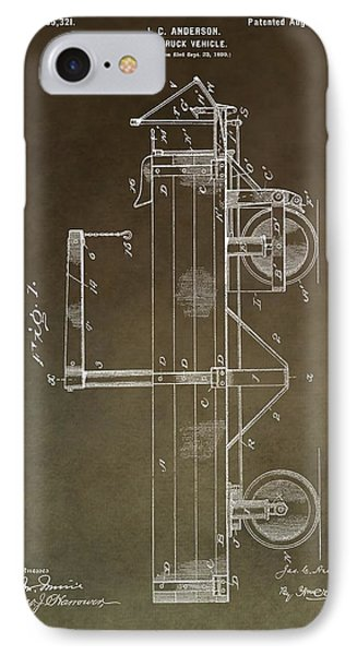 1900 Truck Patent IPhone Case by Dan Sproul