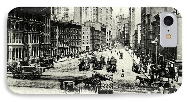 1900 Wall Street New York City IPhone Case by Historic Image